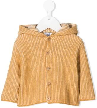 Knot Shisei hooded ribbed knit jacket