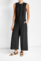 RED Valentino Crepe Jumpsuit with Ruffled Panels
