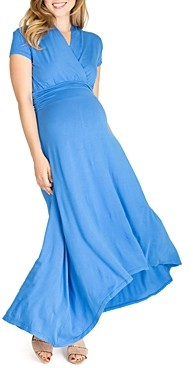 Nom Maternity Caroline High/Low Maxi During & After Dress