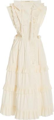 Ulla Johnson Acacia Ruffled Cotton Midi Dress