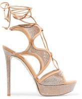 Rene Caovilla Embellished Suede Sandals