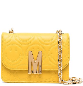 Moschino smiley-quilted M shoulder bag