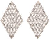 Natasha Accessories Crystal Mesh Drop Earrings