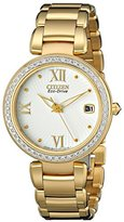 Citizen Eco-Drive Women's EO1102-51A Marne Analog Display Gold Watch