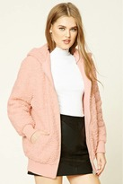 Forever 21 FOREVER 21+ Faux Shearling Hooded Jacket