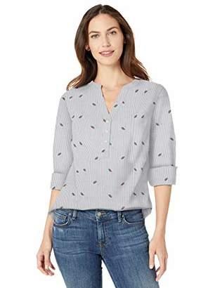 Amazon Essentials Long-sleeve Cotton Popover Shirt Button,US S (EU S - M)