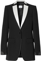 Burberry satin-trim tuxedo jacket