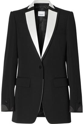 Burberry Satin-Trim Tuxedo Jacket