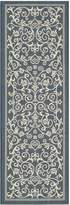 Safavieh Courtyard Collection CY2098-268-Navy and Beige Indoor/Outdoor Runner, 2 Feet 3-Inch by 6 Feet 7-Inch