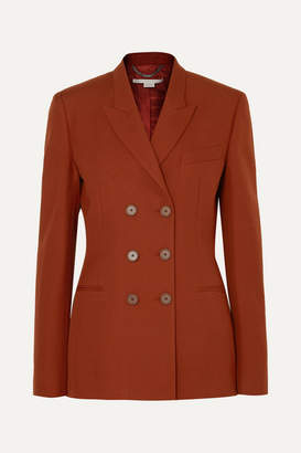 Stella McCartney Double-breasted Wool-twill Blazer - Brick