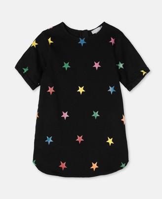 Stella Mccartney Kids Stella McCartney glitter stars denim dress