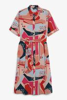 Monki Long belted shirt dress