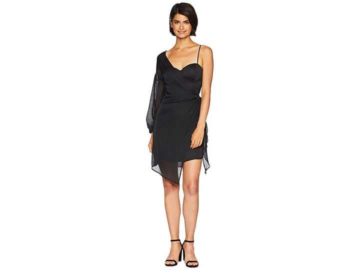 J.o.a. Tie Side One Shoulder Dress