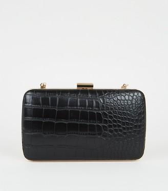 New Look Faux Croc Mini Clutch Bag