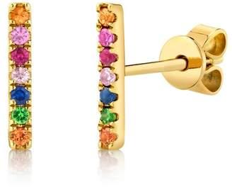 Ron Hami 14K Yellow Gold Diamond Pave Disc Pendant Necklace - 0.02 ctw