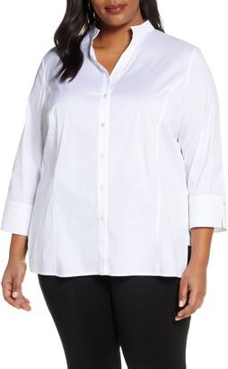 Ming Wang Button Front Shirt