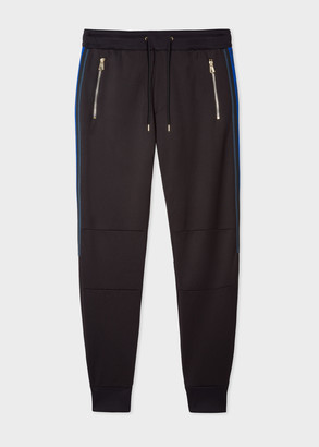 Men's Black Sweatpants With Side Bands