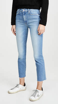 Mother The Mid Rise Dazzler Ankle Fray Jeans
