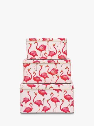 Cake Sara Miller Flamingo Square Tins, Set of 3, Pink