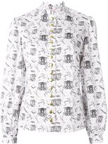 Olympia Le-Tan printed shirt - women - Cotton - 36