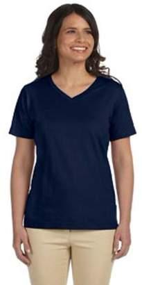 Lat LAT Ladies' V-Neck Premium Jersey T-Shirt
