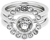 Ted Baker Women's 3-Pack Concentric Crystal Rings