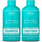Radha Organics Shampoo and Conditioner set for Men & Women with Argan Oil - 100% natural, Sulfate free, Deep Moisturizing, for Itchy Scalp, gentle on Curly & Colored hair - Neroli & Minty Scent