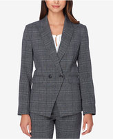 Tahari ASL Petite Double-Breasted Plaid Jacket