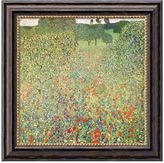 "Amanti art ""Field of Poppies (Campo di Papaveri)"" Framed Canvas Art by Gustav Klimt"