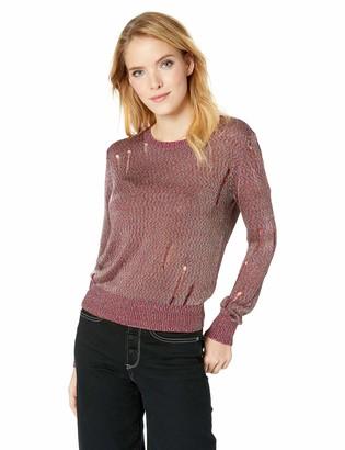 GUESS Women's Long Sleeve Angeleica Destroy Sweater