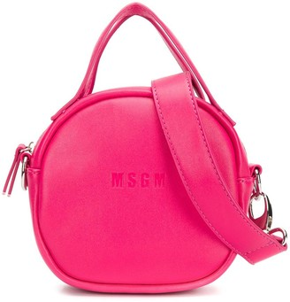 MSGM Kids embossed logo shoulder bag