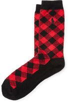 Polo Ralph Lauren Buffalo Check Boot Socks