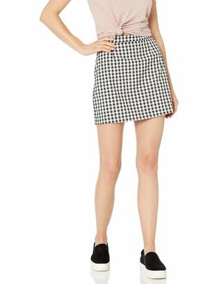 BB Dakota Women's Check yo self Gingham Skirt