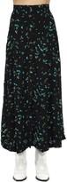 Thumbnail for your product : Ganni Printed Viscose Crepe Midi Skirt