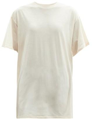Raey Long-line Cotton-jersey T-shirt - Nude