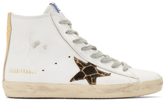 Golden Goose White Cheetah Francy Sneakers