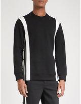 Neil Barrett Contrast-panel Neoprene Sweatshirt