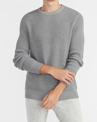 Express Waffle Knit Crew Neck Sweater