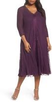 Komarov Plus Size Women's Center Front Lace Dress