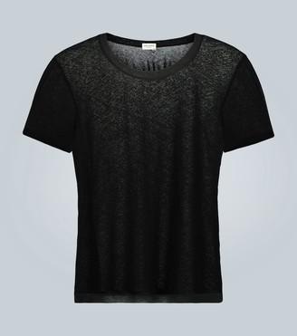 Saint Laurent Sheer cotton T-shirt