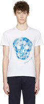Alexander McQueen White Large Skull T-Shirt