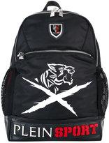 Plein Sport - logo plaque backpack - men - Nylon/Polyester/Polyurethane - One Size