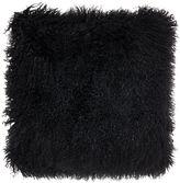 Biba Mongolian lamb cushion, black