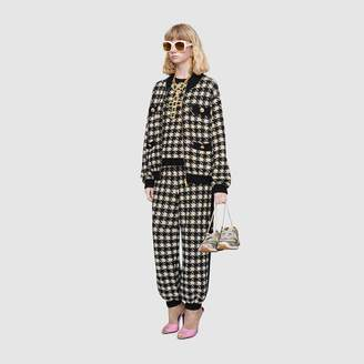 Gucci Houndstooth track bottoms