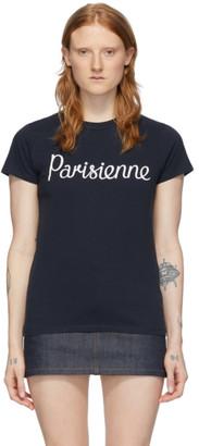 MAISON KITSUNÉ Navy Parisienne T-Shirt