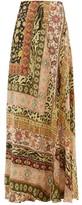 Etro Derbyshire Leopard-print Maxi Skirt - Womens - Pink Multi
