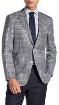 Hickey Freeman Checked Two Button Notch Lapel Wool Classic Fit Sport Coat