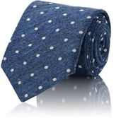Brunello Cucinelli MEN'S DOTTED JACQUARD NECKTIE-BLUE