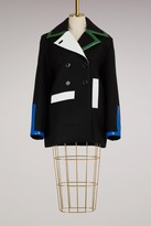 Courreges Multicolor wool coat