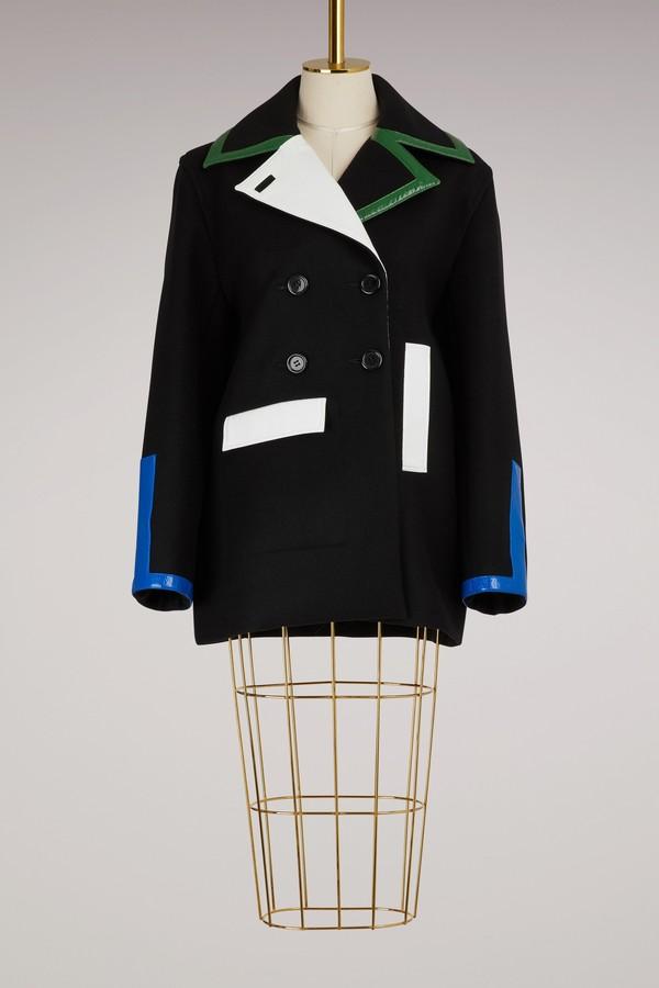 Courreges Multicolor wool coat